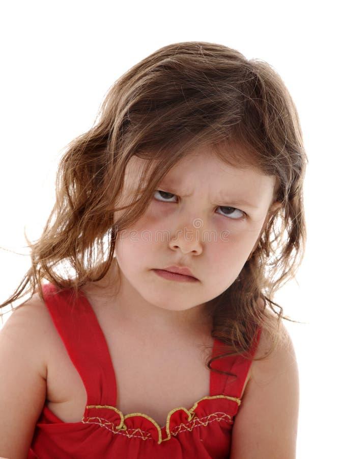 Beleidigtes kleines Mädchen stockfoto