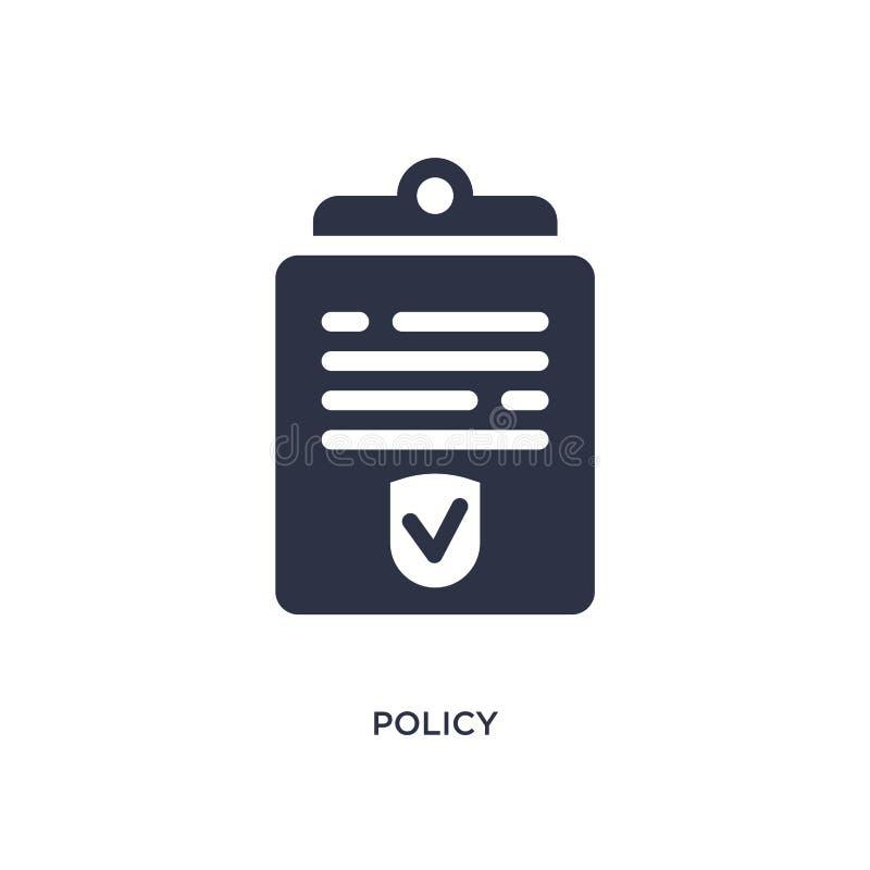 beleidspictogram op witte achtergrond Eenvoudige elementenillustratie van wet en rechtvaardigheidsconcept vector illustratie