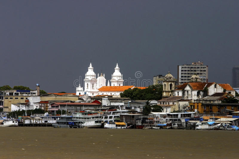 Belem: boats on the river stock photo