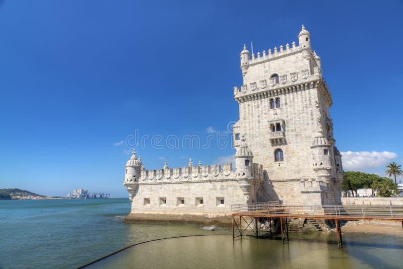 belem fästninglisbon portugal torn royaltyfri fotografi