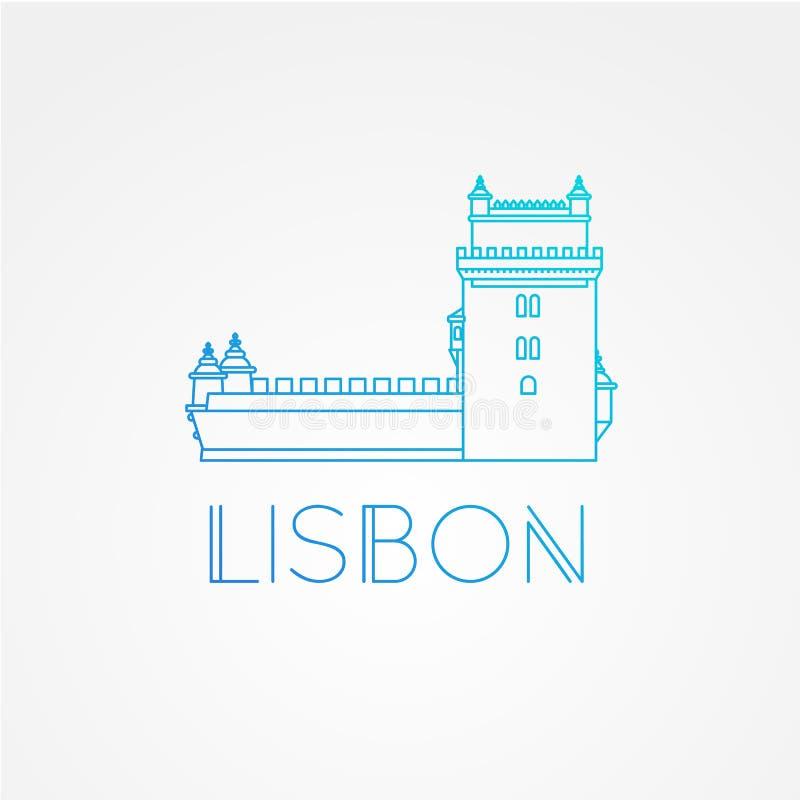 Belem Góruje - symbol Lisbon Portugalia royalty ilustracja