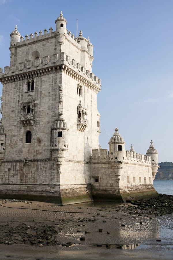 Belem-Kontrollturm in Lissabon Portugal lizenzfreies stockfoto