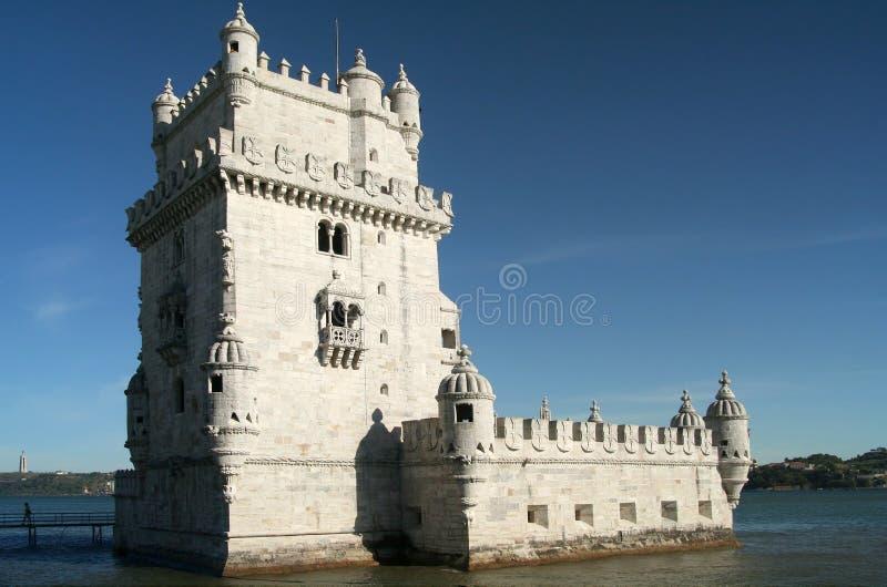 Belem-Kontrollturm in Lissabon, Portugal stockbilder