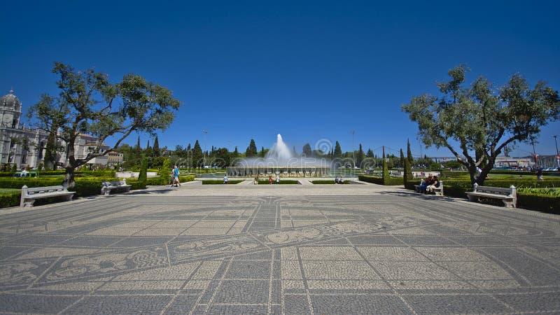 Belem parc med springbrunnen arkivbilder