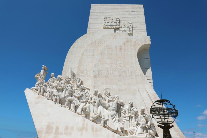 BELEM, PORTUGAL - JUNI 25, 2018: Monument aan de Ontdekkingen in Belem, Lissabon, Portugal stock afbeeldingen