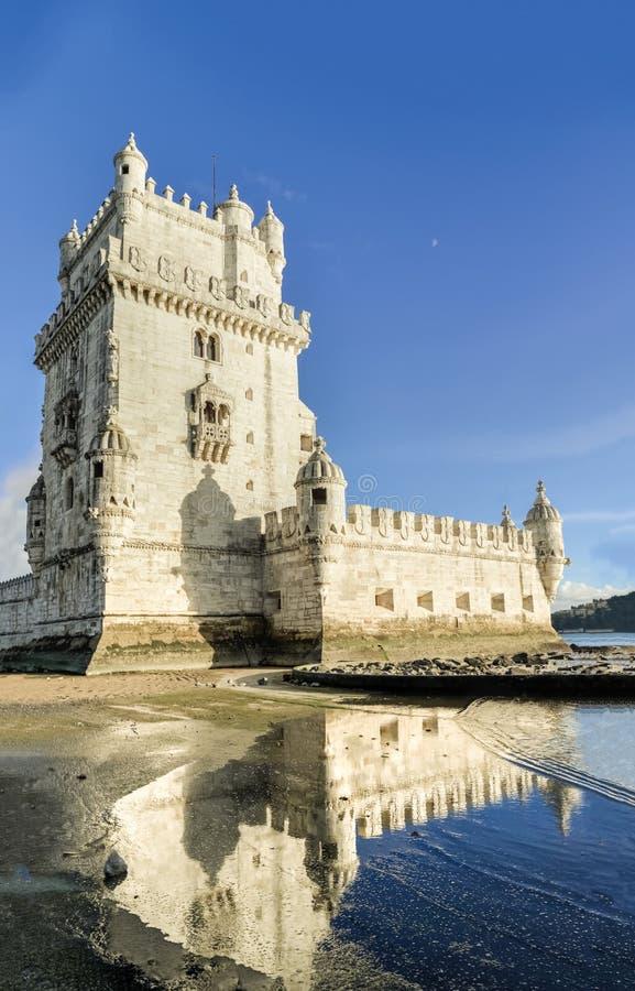 belem Portugal Lizbońskiej tower obraz royalty free