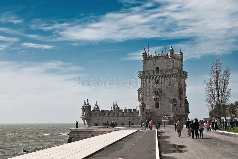 BELEM TOWER IN LISBON royalty free stock images
