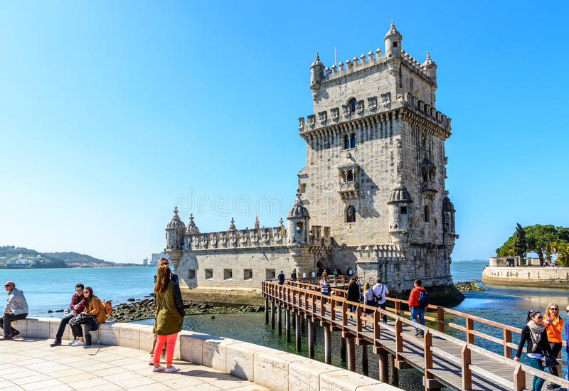 Download Belem Tower In Lisbon, Portugal Editorial Stock Image - Image of place, city: 52803579