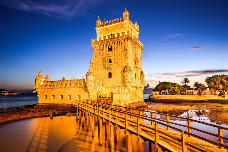 Belem Tower of Lisbon royalty free stock image