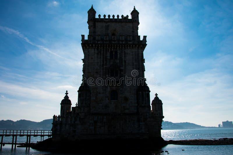 Belem-Turm oder Turm von St. Vincent Torre de Belem stockfoto