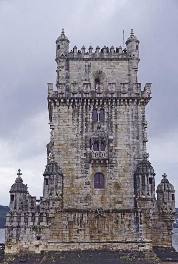 Belem wierza lub wierza St Vincent, Lisbon, Portugalia obraz stock