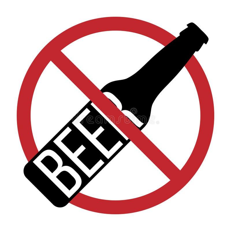 Belemmerde Geen Teken van het Einde Geen alcohol royalty-vrije illustratie