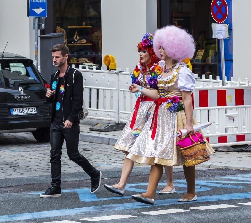 Belemmeringskoninginnen bij Christopher Street Day-CDD in München, Duitsland stock afbeeldingen