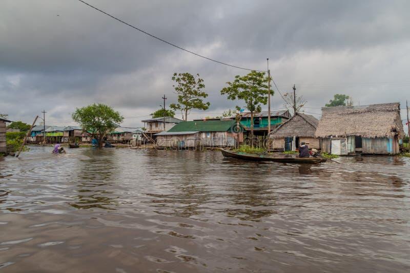Belen grannskap av Iquitos arkivbilder