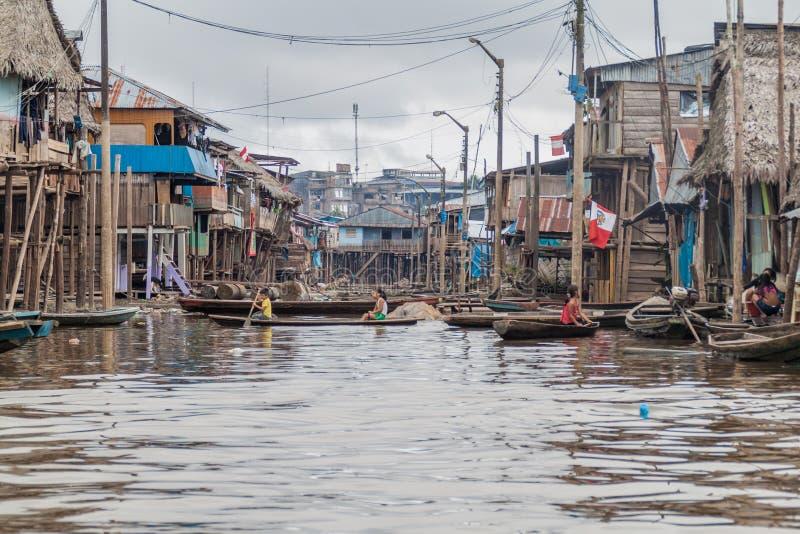 Belen grannskap av Iquitos royaltyfria foton