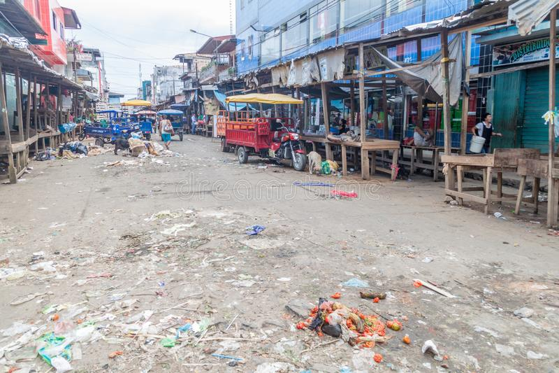 Belen Market i Iquitos royaltyfri bild