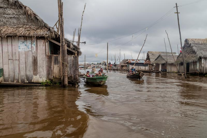 Belen neighborhood of Iquitos stock photo
