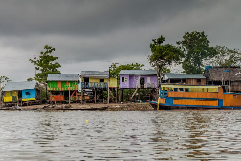 Belen neighborhood of Iquitos royalty free stock image