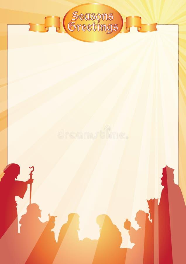 belen powitań listowi promienie ilustracji