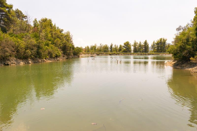 Beletsi湖在希腊 免版税库存照片