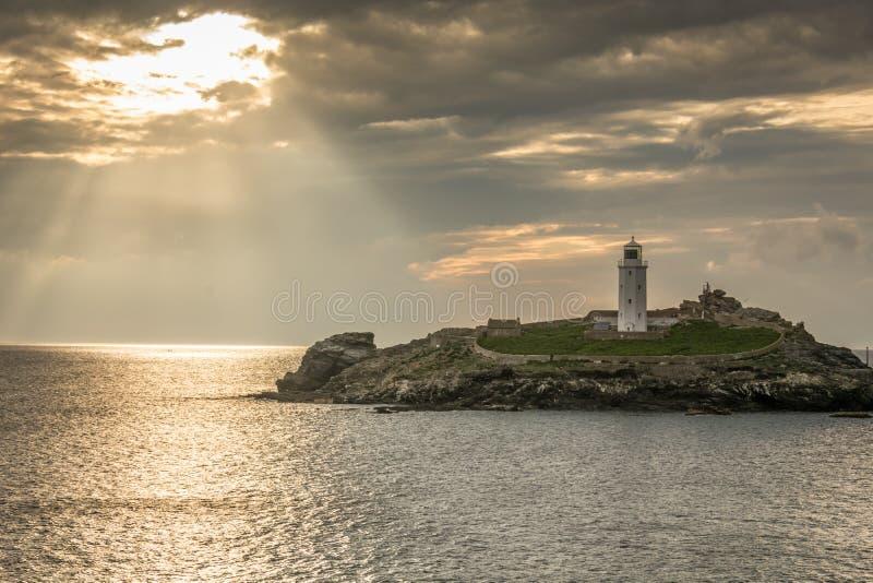 Beleuchten des Leuchtturmes lizenzfreies stockbild