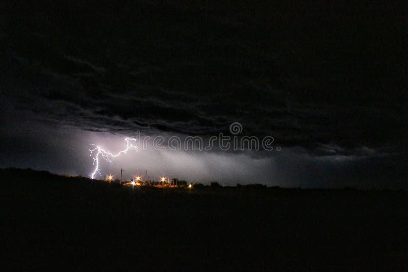 Beleuchten am Seejachthafen EL Dorado stockbild