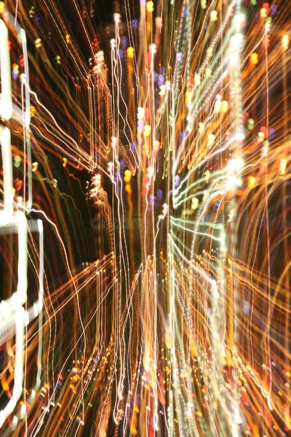 Beleuchten Sie Chaos stockbild