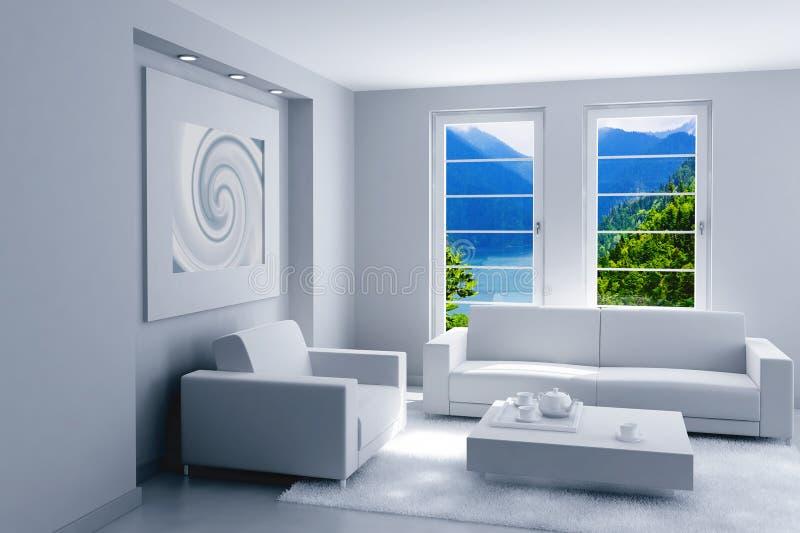 Beleuchten Sie modernen Innenraum vektor abbildung