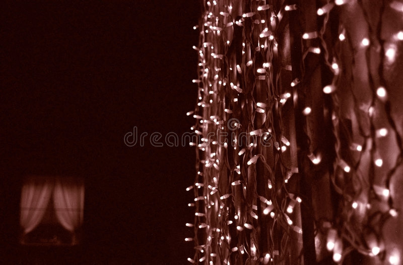 Beleuchtet Dekoration stockfotos