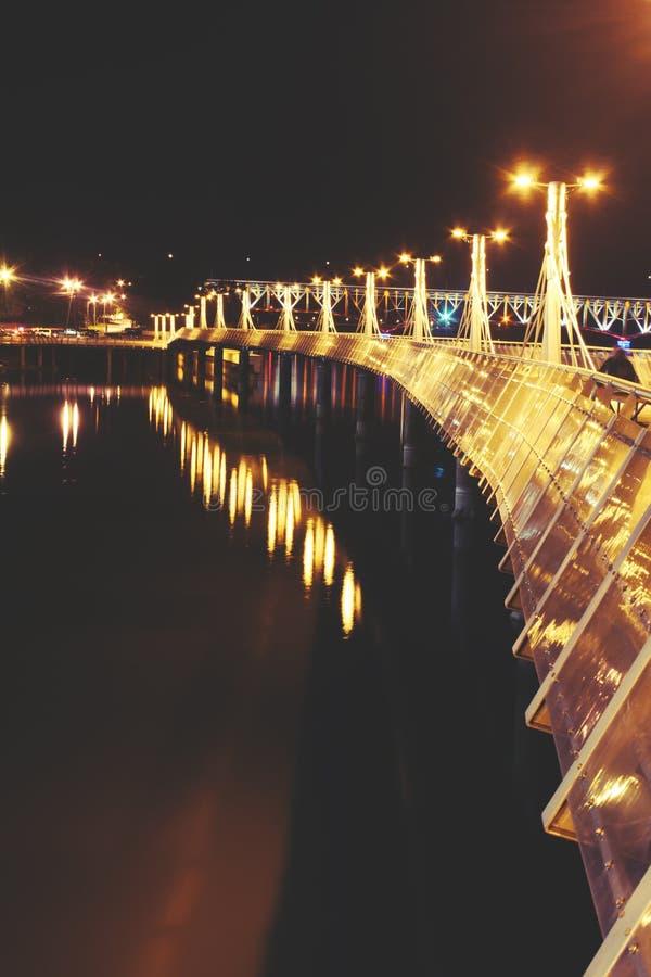 Beleuchtung des Pier III stockbild
