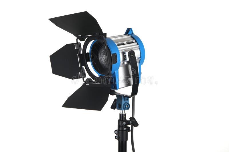 Beleuchtungausrüstung, getrennt auf Weiß stockfotos