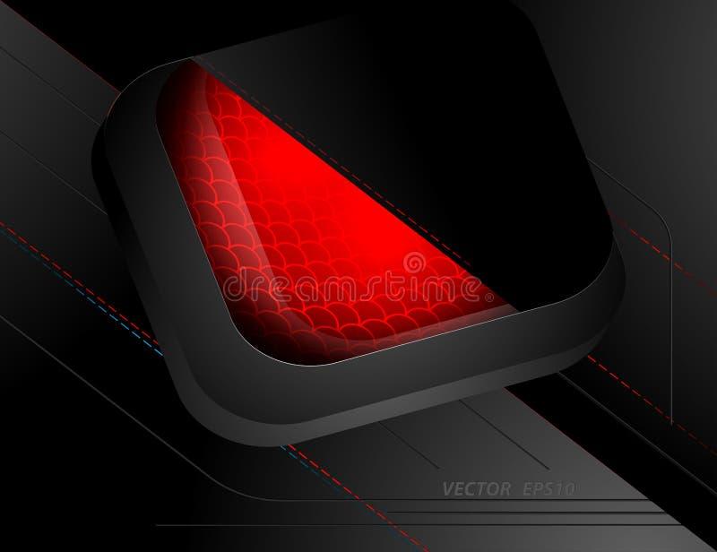Beleuchtungs-Szenenvektor Techno roter stock abbildung
