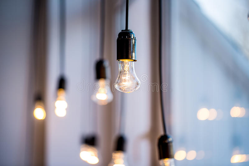 Beleuchtungsdekor stockfotos