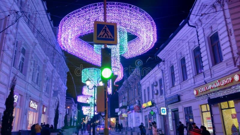 Beleuchtungsnachtstraße lizenzfreie stockfotografie