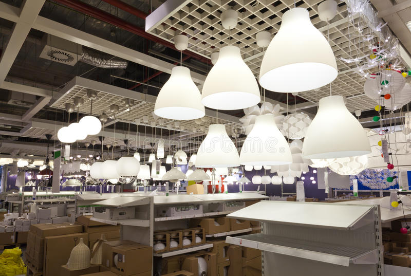 Beleuchtungverkaufsbereich lizenzfreie stockfotografie
