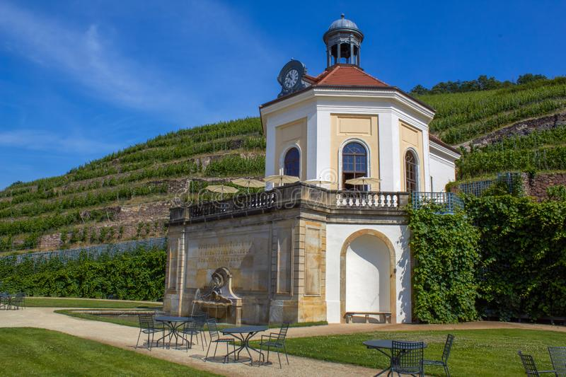 pretty little chapel in the Saxon vineyards royalty free stock images