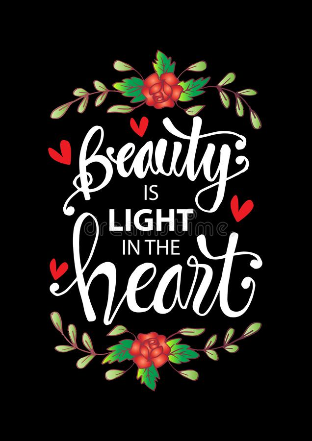 A beleza é uma luz no coração ilustração royalty free