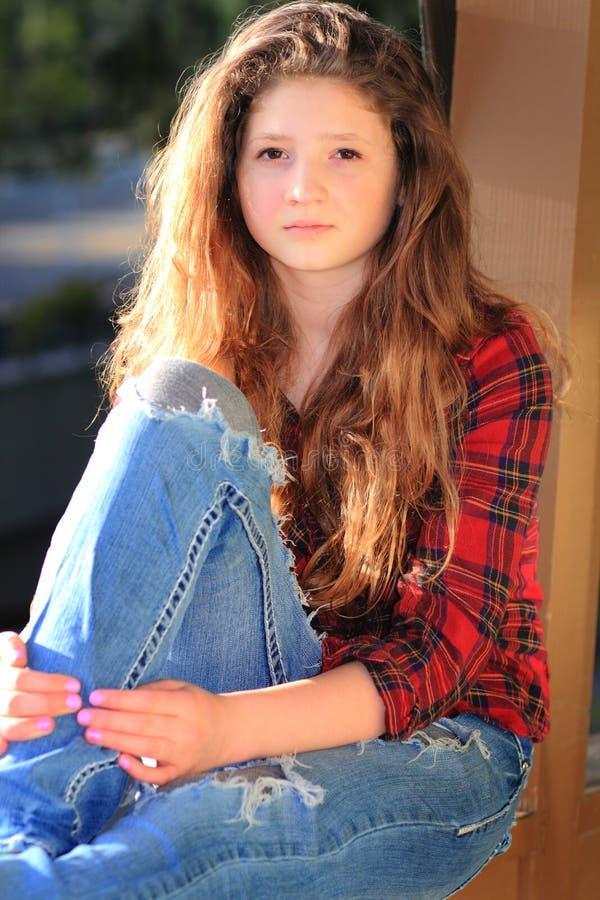 Beleza adolescente moderna fotos de stock