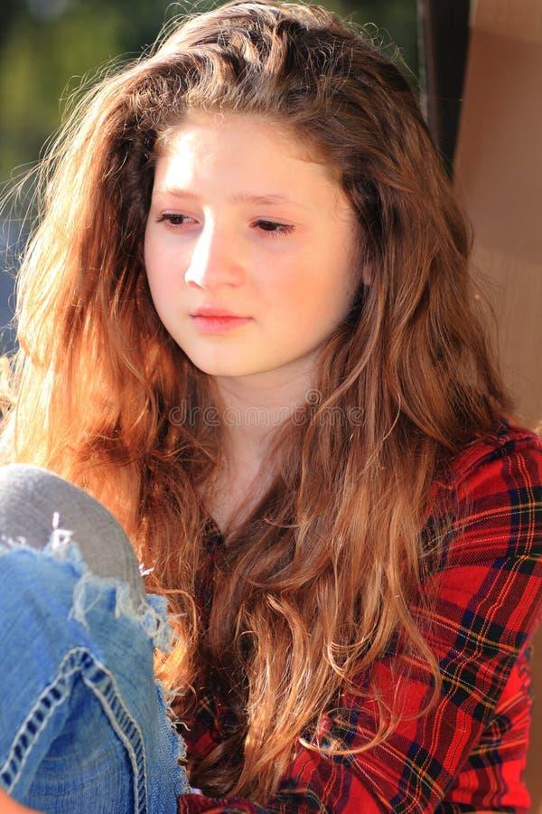 Beleza adolescente pensativa imagem de stock royalty free