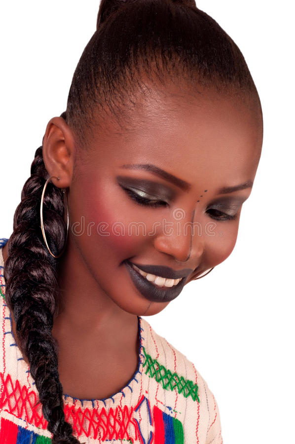 Beleza africana da forma fulani imagem de stock