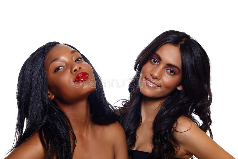 Beleza africana e indiana fotografia de stock royalty free