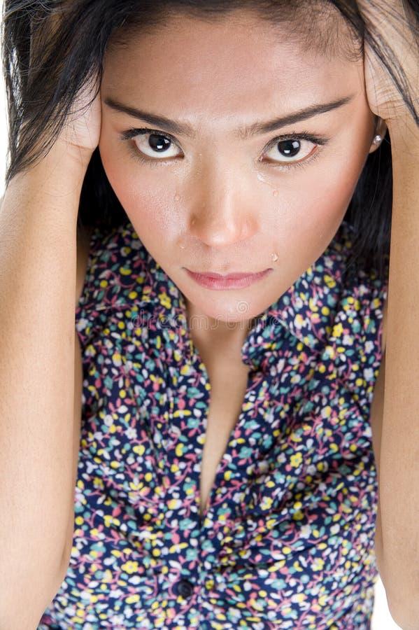 Beleza asiática de grito imagem de stock royalty free