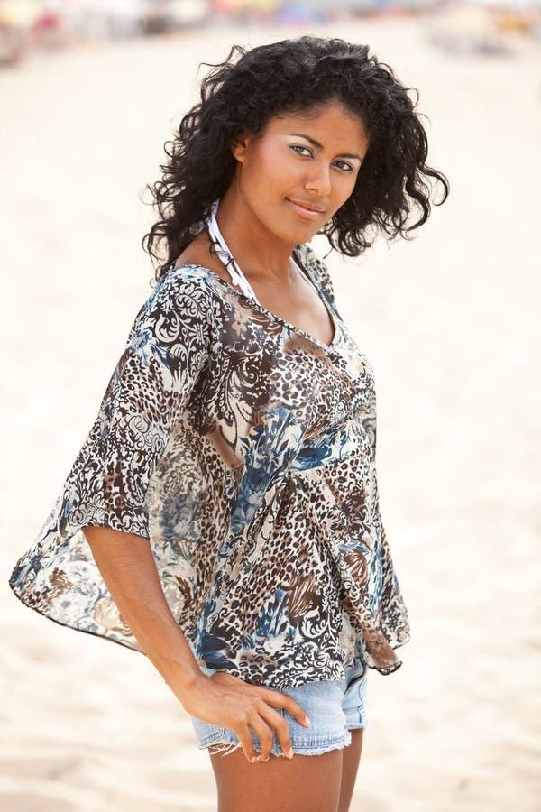 Beleza brasileira da praia fotos de stock royalty free