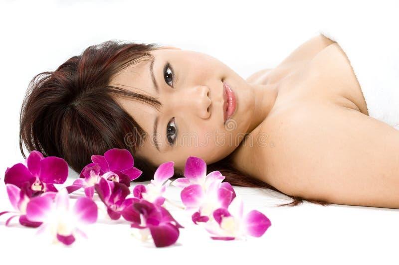 Beleza com flores foto de stock royalty free