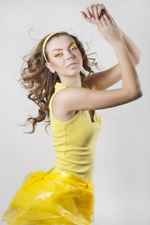 Download Beleza Curly imagem de stock. Imagem de bonito, cute - 12812467
