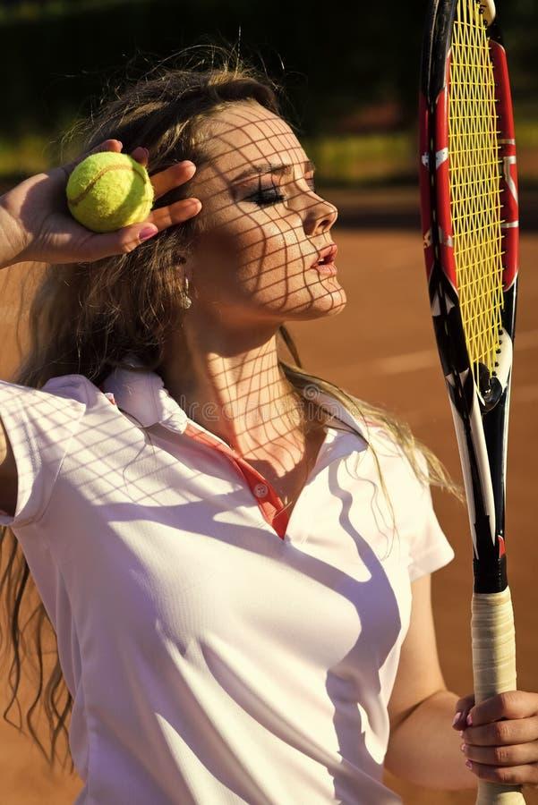 Beleza da cara da mulher Esporte, conceito do jogo imagens de stock royalty free