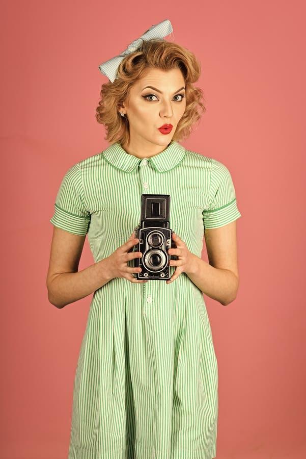 Beleza da cara da mulher Beleza, fotografia da forma, estilo do vintage imagens de stock
