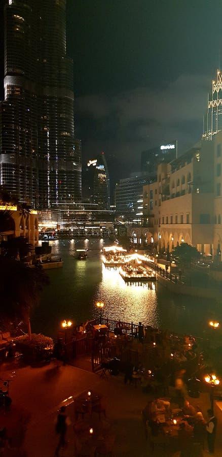 A beleza da cidade de Dubai foto de stock