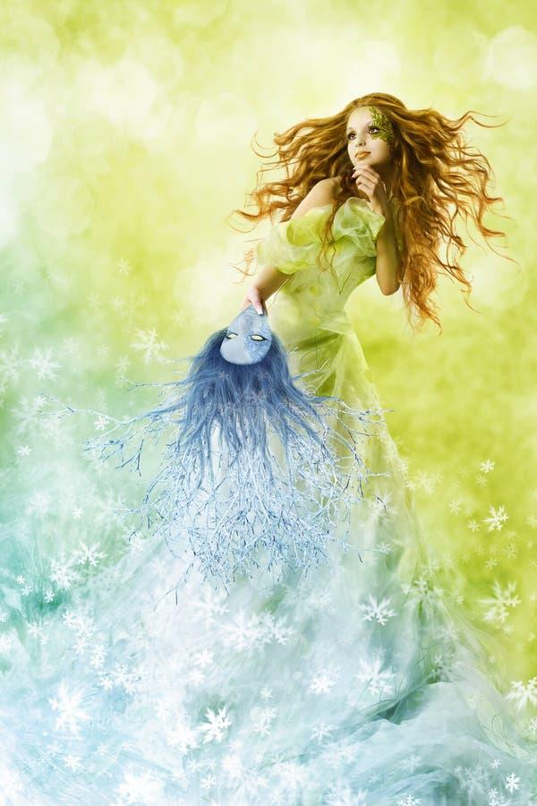 Beleza da fantasia, composição da mudança da mulher da forma fotografia de stock royalty free