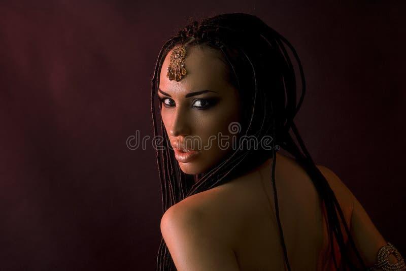 Beleza da forma e cabelo à moda Composição Mulher 'sexy' bonita imagens de stock royalty free
